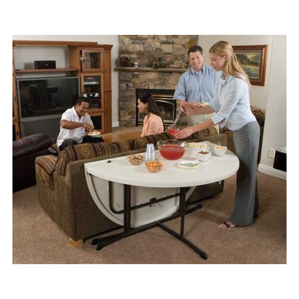 lifetime 48 round fold in half table white folding tables 2