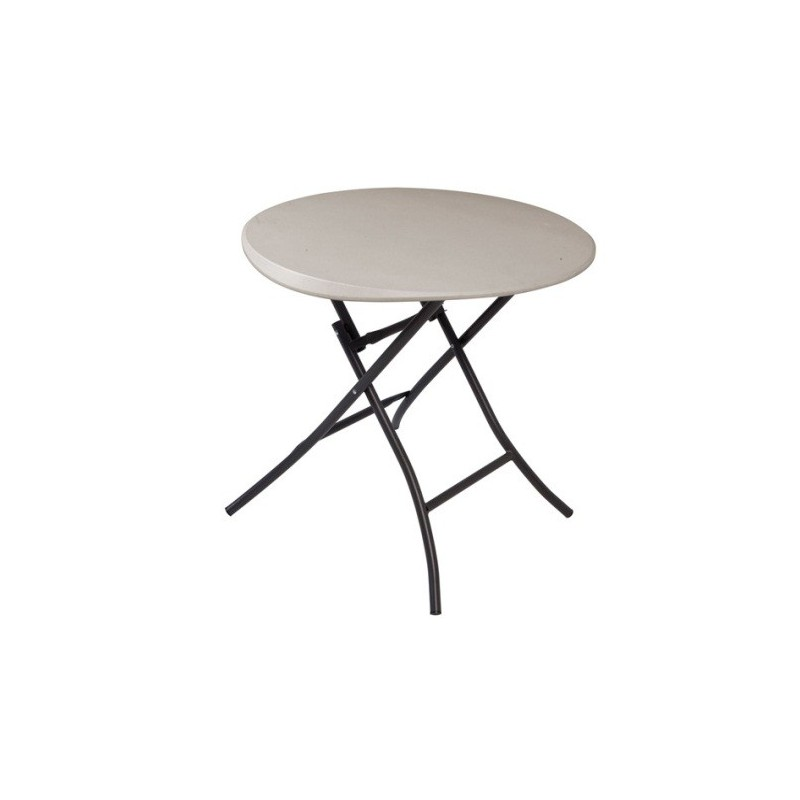 Lifetime 33 in. Round Folding Table (Putty) 80230