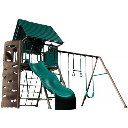 Lifetime Heavy-Duty Metal Playset with Clubhouse (Earthtone) 90042