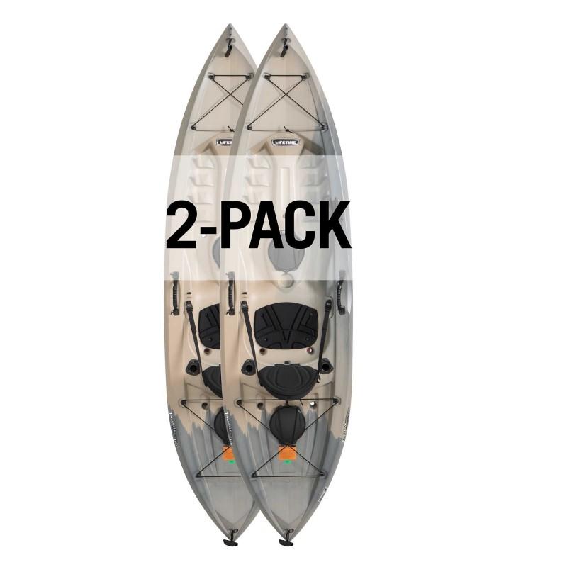 Lifetime Two pack Angler Tamarack kayaks w/o paddles - Recon Fusion (90922)
