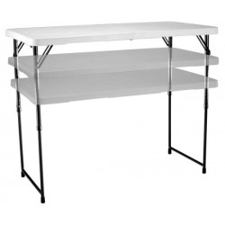 Lifetime 4 ft. Adjustable Height Fold-In-Half Table - White (4428)