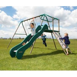 Lifetime Climb & Slide Playset Metal Swing Set - Earthtone (90462)