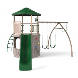 Lifetime Adventure Tower Swing Set - Earthtone (90440)