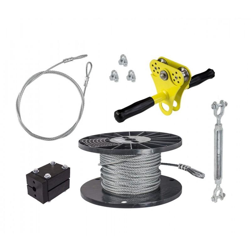 Zip Line Gear 50' Hornet Zip Line Kit - Yellow (ZHK050)