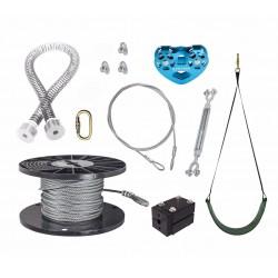Zip Line Gear 50' Spring Stop Zip Line Kit (ZLPSSKit050)
