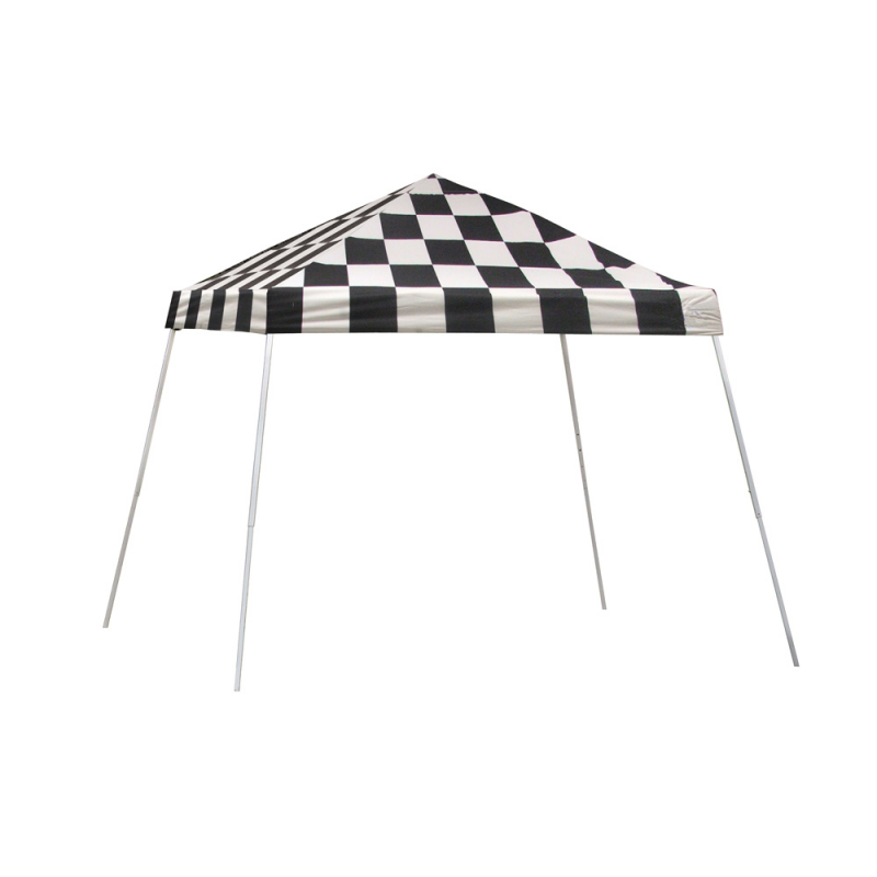 Shelter Logic 10x10 Slant Leg Pop-up Canopy - Checkered (22776)