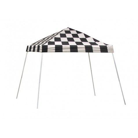 ShelterLogic 10x10 Slant Leg Pop-up Canopy - Checkered (22776)