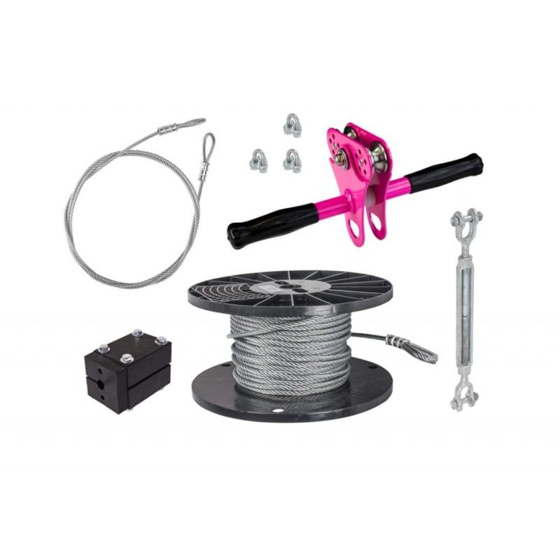 Zip Line Gear 75' Hornet Zip Sit Kit - Pink (ZHSK075-P)