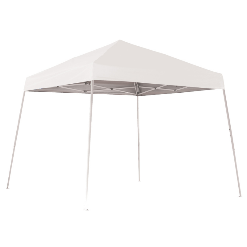 Shelter Logic 10x10 Slant Leg Pop-up Canopy - White (22558)