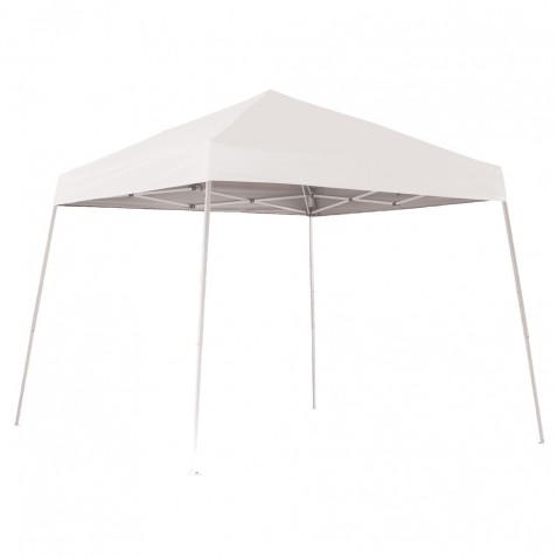 Shelter Logic 10x10 Slant Leg Pop-up Canopy - White (22558)