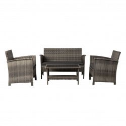 Patio Sense Jareth Wicker Patio Set - Gray (63177)