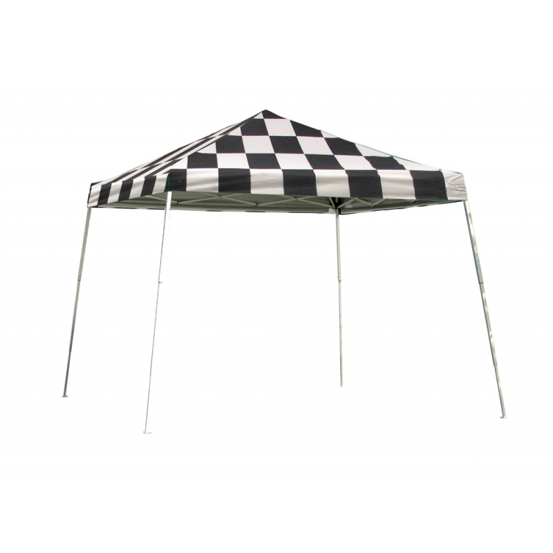 Shelter Logic 12x12 Slant Leg Pop-up Canopy - Checkered (22549)