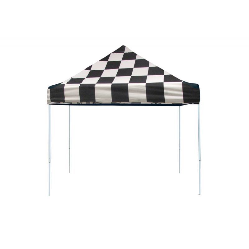 Shelter Logic 10x10 Straight Leg Pop-up Canopy - Checkered (22565)
