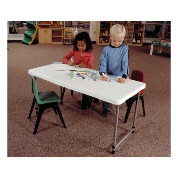 Lifetime 4 Ft Adjustable Height Fold In Half Table