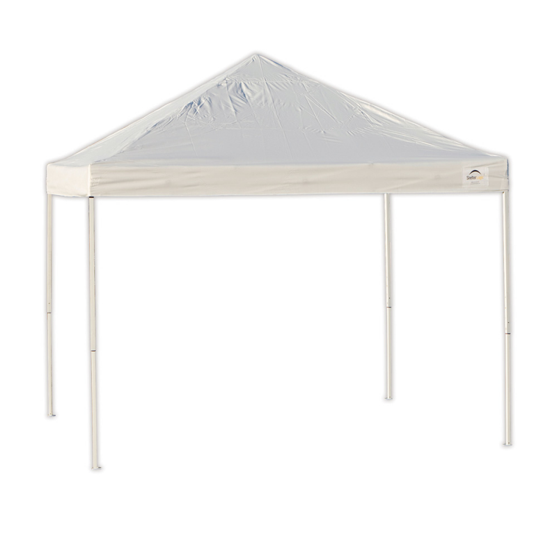 ShelterLogic 10x10 Straight Leg Pop-up Canopy - White (22586)