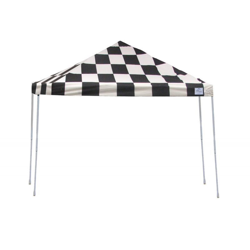 Shelter Logic 12x12 Straight Leg Pop-up Canopy - Checkered (22543)