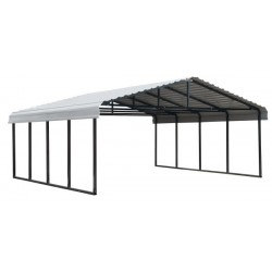 Arrow 20x20x7 Steel Auto Carport Kit - Eggshell (CPH202007)