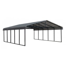 Arrow 20x24x7 Steel Auto Carport Kit - Eggshell (CPH202407)