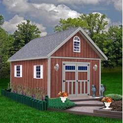 Best Barns Springfield 12x16 Wood Storage Shed Kit (springfield_1216)