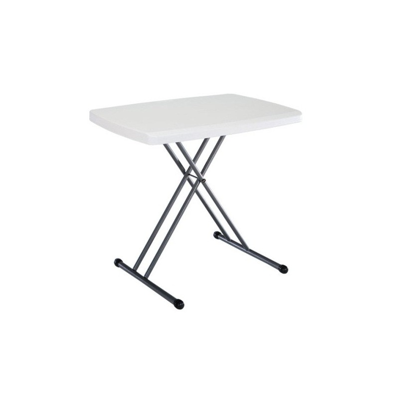 Lifetime 30 x 20 in. Personal Adjustable Height Folding Table (White) 28241