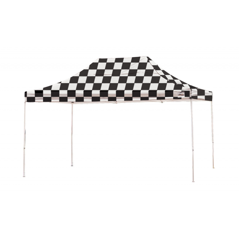 Shelter Logic 10x15 Straight Leg Pop-up Canopy - Checkered (22555)
