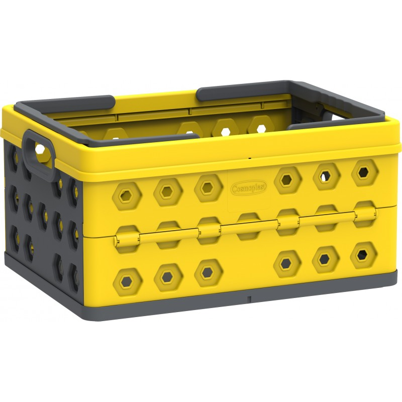 DuraMax Foldable Basket - Yellow w/ Gray (86201)