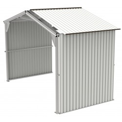 Duramax 6' Metal Storage Shed Extension - Off White with Brown (54931)