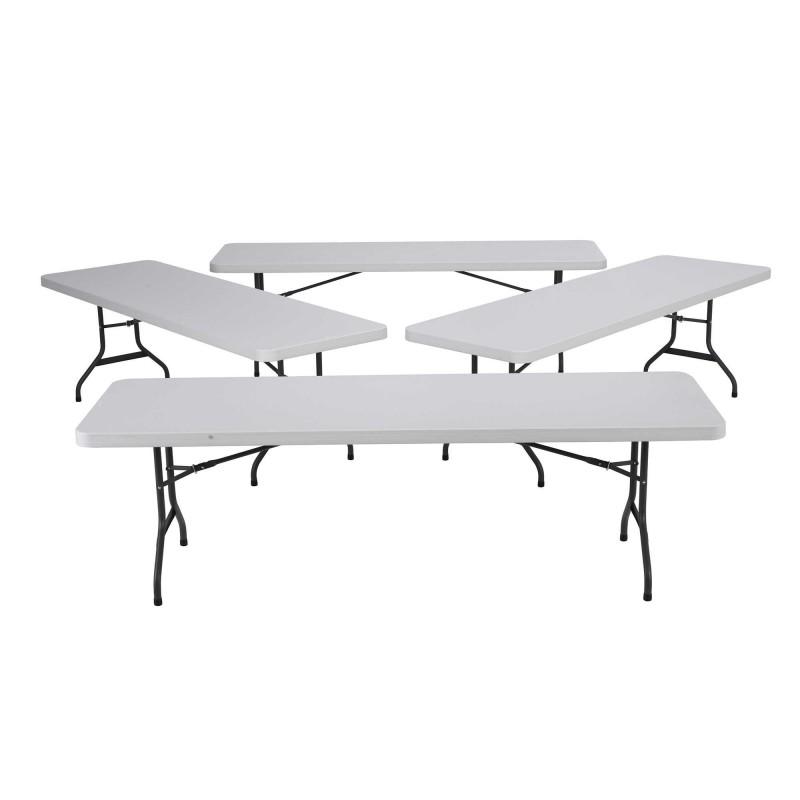 Lifetime 8 ft. Commercial Plastic Folding Banquet Tables 4 Pack (White) 42980