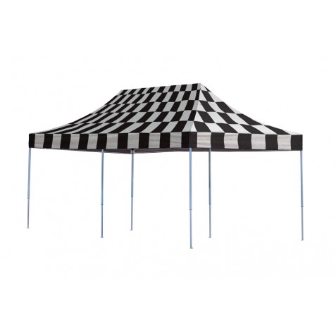 Shelter Logic 10x20 Straight Leg Pop-up Canopy - Checkered (22533)