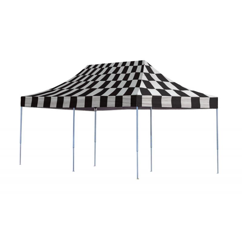 ShelterLogic 10x20 Straight Leg Pop-up Canopy - Checkered (22533)