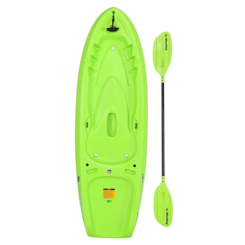 Lifetime Emotion Recruit 6.5 Youth Kayak w/ Paddle - Lime Green(90765)