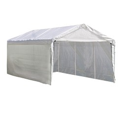 Shelter Logic 12×20 Canopy Enclosure Kit - White (25774)