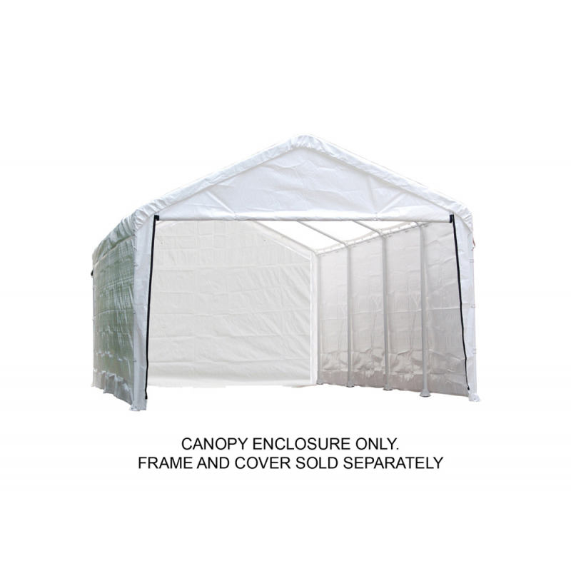 Shelter Logic 12×30 Canopy Enclosure Kit - White (25779)