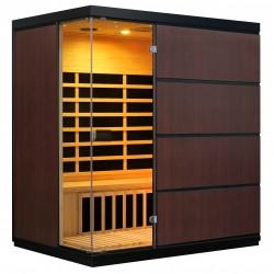 Blue Wave Sirona 4-Person Hemlock Infrared Sauna w/ 8 Carbon Heaters (SA7009)