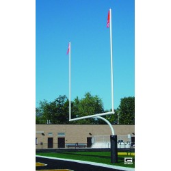 "Gared RedZone 5-9/16"" O.D., 18' 6"" Crossbar, College Football Goalposts, White, Permanent/Sleeve-Mount (FGC606IGW)"