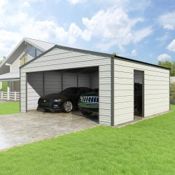 Versatube 20x20x8 Frontier Classic Steel Garage Kit (FB1202008516)
