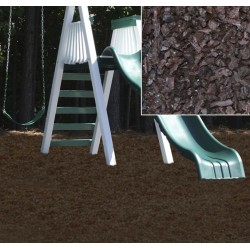 KidWise Playground Recycled Rubber Mulch - Chocolate Brown (KW-BRM-2000)