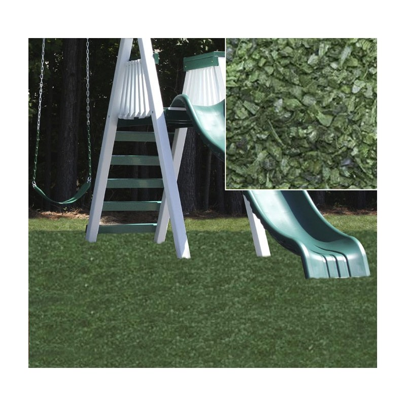 KidWise Playground Recycled Rubber Mulch - Forest Green (KW-GRM-2000)