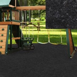 KidWise Playground Recycled Rubber Mulch - Black (KW-BLK-2000)
