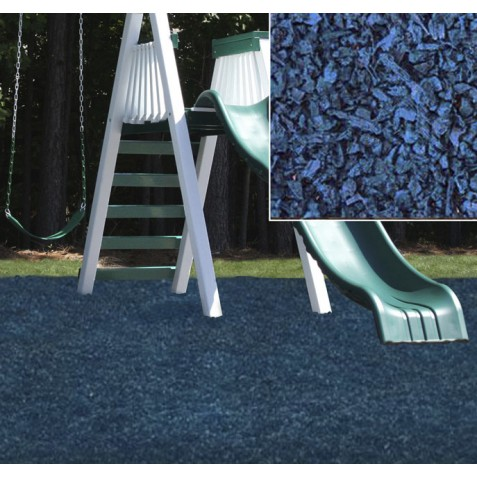 KidWise Playground Recycled Rubber Mulch - Blue (KW-BLM-2000)