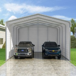 VersaTube 3-Sided 20x20x12 Classic Steel Carport Kit (C3E020200120)