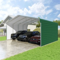 VersaTube 2-Sided 24x20x10 Classic Steel Carport Kit (CM324200100-NS0009)