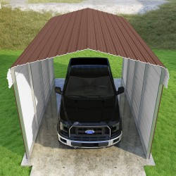 VersaTube 2-Sided 12x20x10 Classic Steel Carport Kit (CM012200100-NS0009)