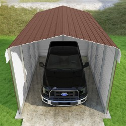 Versatube 3-Sided 12x20x10 Classic Steel Carport Kit (C3E012200100)