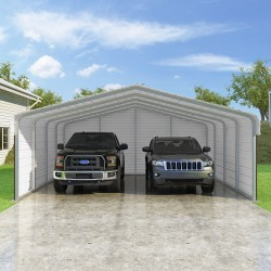 VersaTube 3-Sided 20x20x7 Classic Steel Carport Kit (C3E020200070)