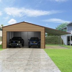 Versatube 20x20x10 Frontier Steel Garage Lean-To Kit (FBL2202010516 )