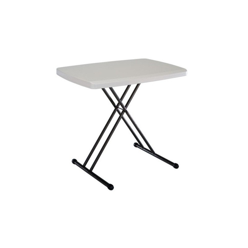 Lifetime 30 x 20 in. Personal Adjustable Height Folding Table (Almond) 28240
