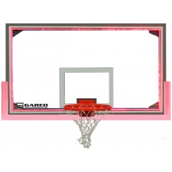 "Gared 42"" x 72"" Regulation Glass Backboard with Steel Frame & Perimeter LED Light System (LXP4200LED)"
