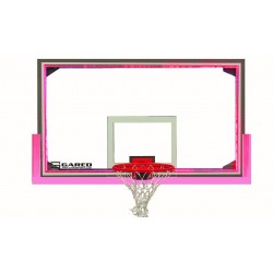 "Gared 42"" x 72"" Regulation Glass Backboard with Aluminum Frame & Perimeter LED Light System (AFRG42LED)"
