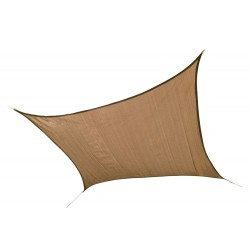 Shelter Logic 12 ft Square Shade Sail - Sand (25731)